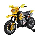 HOMCOM Kids Electric Motorbike Child Ride on Motorcycle 6V Battery Scooter (Yellow)