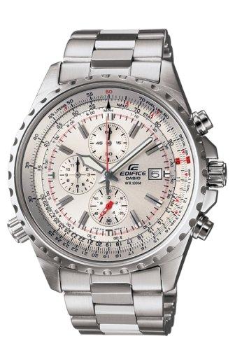 CASIO Edifice EF-527D-7AVEF - Reloj cronógrafo de cuarzo con correa de  acero inoxidable para hombre (cronómetro 860a01c66147