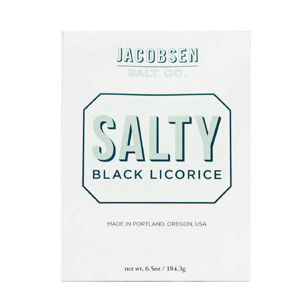 Jacobsen Salt - Salty Black Licorice, 6.5 oz | 24 pieces (Pack of 2)