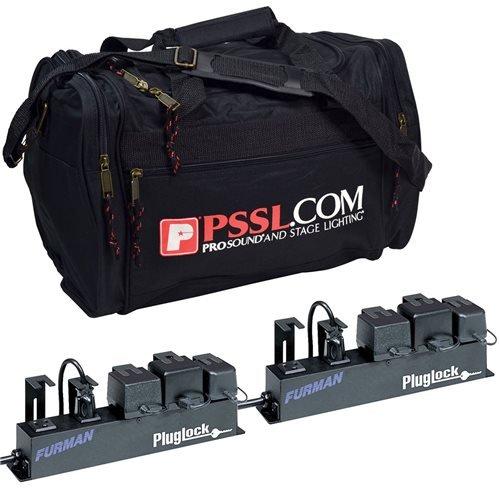 Furman Plug Lock Locking Power Strip Pair with Bag by Furman