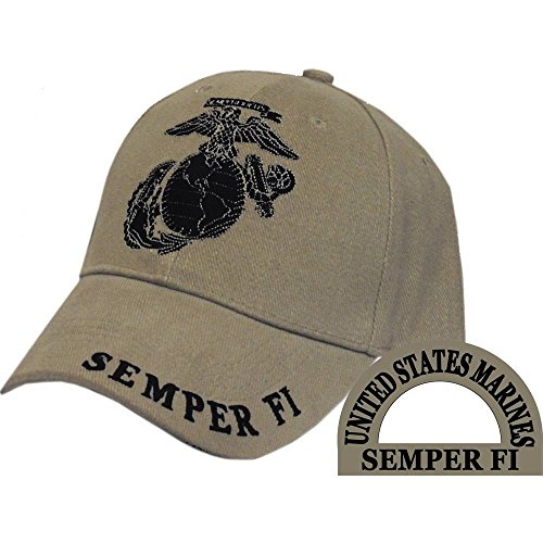 United States Marine Logo Black Globe Eagle Subdued Hat Semper Fi Cap (Subdued Marine)