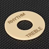 Generic Rhythm Treble Switch Plate fits Les Paul Guitar Cream
