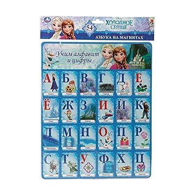 Disney Magnet Cards, Frozen Learning Alphabet and Numbers Карточки на магнитах Disney, Холодное сердце Учим алфавит и цифры Kartochki na magnitakh Disney, Kholodnoye serdtse Uchim alfavit i tsifry: Toys & Games