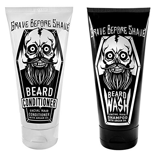 (GRAVE BEFORE SHAVETM Beard Wash & Conditioner Pack)