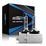 Marsauto D3S Xenon HID Headlights Bulb 2 Pack Diamond White 6000K 35W Super Bright Direct Replacement Bulb with Gloves