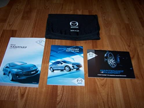 2012 mazda 3 owners manual mazda amazon com books rh amazon com mazdaspeed 3 owners manual pdf mazda 3 owners manual 2009
