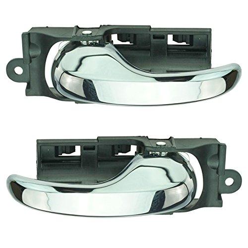 Truck Chrome Interior Door Handle - Door Handle Front Inner Inside Chrome Pair Set for Ford F150 F250LD