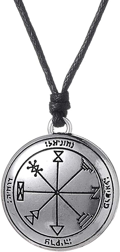 cooltime First Pentacle of Jupiter Necklace Pagan Jewelry for Men
