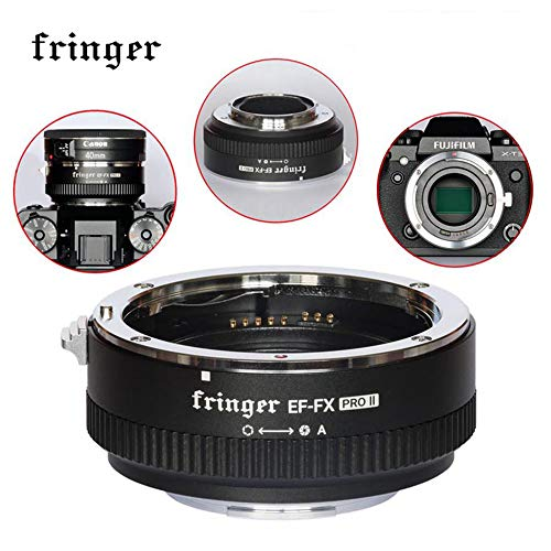 Fringer EF-FX PRO II Auto Focus Mount Adapter for Canon EF Lens to Fujifilm Compatible for Fujifilm X-H X-T X-PRO X-E EF-FX2 PRO