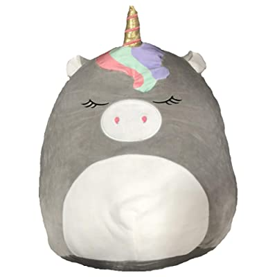 "Squishmallows 11"" Soft Plush Toy Pillow Valentines, Christmas, Birthday, Gift, Present Collectible (Gray Unicorn): Home & Kitchen"