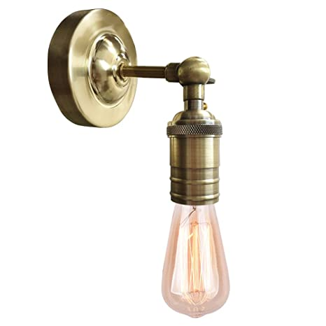 Splink Vintage Wall Sconce With ON/Off Switch, Industrial Retro Metal Wall  Lamp Antique