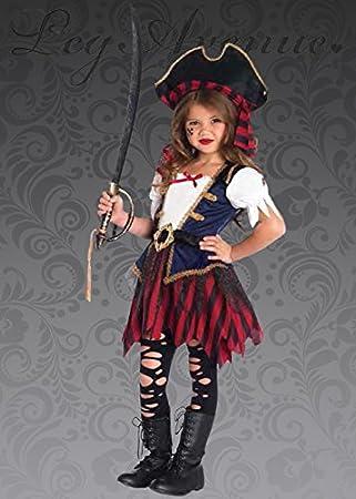 Disfraz de niña Pirata caribeña Deluxe para niños Medium (7-10 ...
