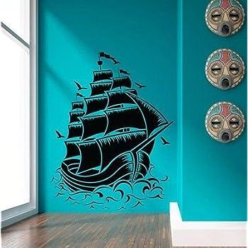 Nautical Sail Boat Pirate Ship Wall Decal Sticker Room Decor Vinyl Wall Art Part 48