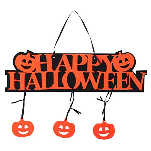 lightclub Happy Halloween Pumpkin Hanging Door Plate Tag Showcase Bar Shopping Mall Decor,Customizable Personalised Cute Funny Door Signs for Office Pumpkin]()