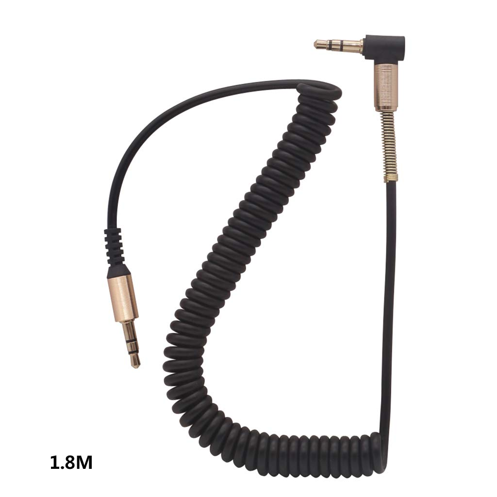 T-HOT68 3.5MM Audio Cable 3.5 Jack Male to Male AUX Cord Wire Stretchable Spring Cable for Car Phone Headphone Speaker Accessories