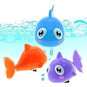 Dontdo Cute Turtle/Crocodile/Shark Swim Animal Wind-up Chain Clockwork Kid Bathing Toy (Shark)