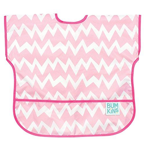 bumkins-waterproof-junior-bib-pink-chevron-1-3-years