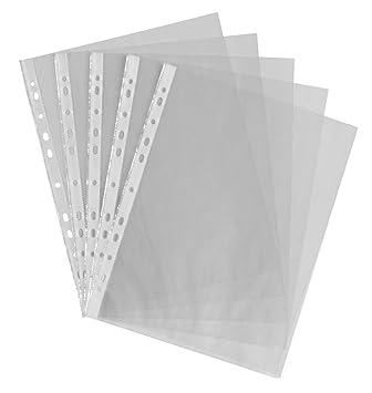 Wady - Fundas de plástico transparente A4, fundas de archivadores y para guardar documentos en carpetas de anillas.: Amazon.es: Electrónica