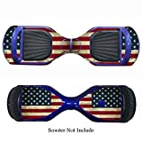 SKINOWN Self Balance Two Wheel Balance Board Hover Scooter Sticker Protective Skin Wrap Adhesive Vinyl Decal Cover USA Flag