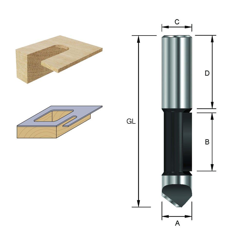 GL 73 mm ENT 11791 Ausstechfr/äser und Kopierfr/äser HW A 8 mm C HM Schaft D 32 mm 8 mm Durchmesser B 25,4 mm