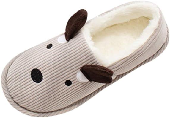 bloatboy Chausson,Hommes Femmes Automne Hiver Pantoufles Coton Mousse M/émoire Peluche Chaud Chaussons Maison Chaussures Antid/érapantes Slippers Femme Homme Accueil Slippers Chaussures