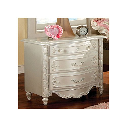 Addison Girls Night Stand in Pearl White by FA Furnishing