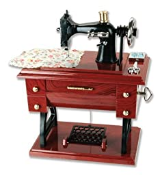 Musical Sewing Machine Music Box Vintage Look by Banberry Designs
