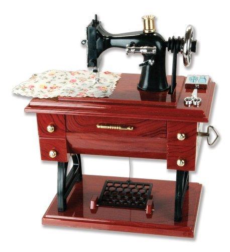 G Ganen Musical Sewing Machine Music Box Vintage Look - Music Box Mini Christmas