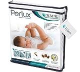 Perlux Hypoallergenic Tencel 100% Waterproof Crib Mattress Protector - Vinyl, PVC, Phthalate and Pesticide Free