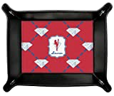 Red Diamond Dancers Genuine Leather Valet Tray (Personalized)