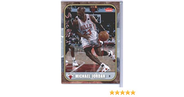 cd581ef4a4329a Amazon.com  2007 Fleer Michael Jordan Tribute Basketball Card (2007-08) IN  SCREWDOWN CASE  29 Michael Jordan Mint  Collectibles   Fine Art