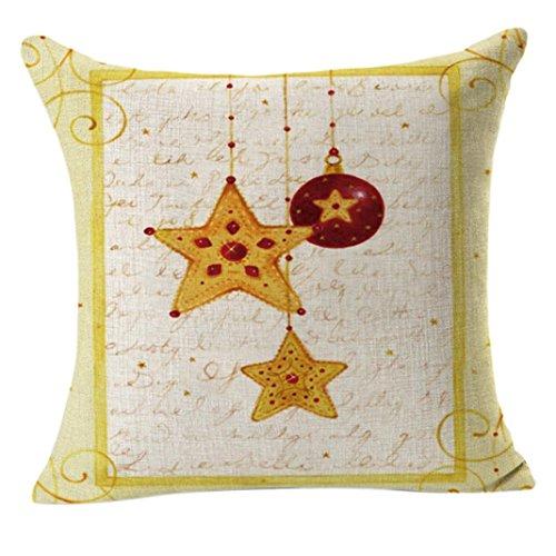 Gotd Merry Christmas Pillow Case Gifts under Christmas Tree Xmas 18 x 18 Cushion Cover Merry Chritmas Home Decor Design Throw Pillow Cover Pillow Case 18 x 18 Inch Cotton Linen for Sofa (Gift A)