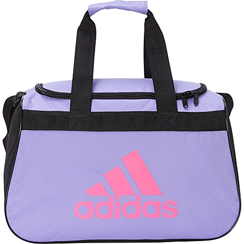 adidas Limited Edition Diablo Small Duffel Gym Bag in Bold Colors - (Light Flash Purple/Solar Pink/Black) -