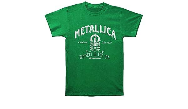 Metallica Hombres del Día de San Patricio Jarra de whisky en la T-Shirt Kelly nNirTc