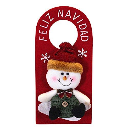 MingXiao Dooor Colgante de Navidad Decoración Adornos Colgante Adorno Colgante Nuevo Papá Noel muñeco de Nieve DIY...
