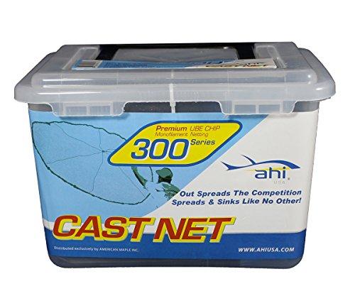 Ahi USA 300 Series Cast Net 5' - Blue Mono Net 1/2