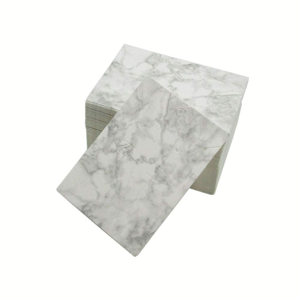 100 Pcs Marble Earring Cards Earring Card Holder Earring Display Tag For Ear Studs Earrings Diy Jewelry
