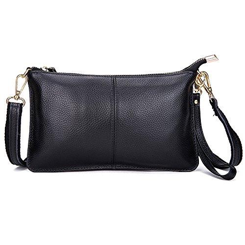 de les à sac du cuir pour wristlet à sac mode crossbody femmes les petites portefeuilles sac noir la sac main l'épaule embrayage coup R8Iw8TqW