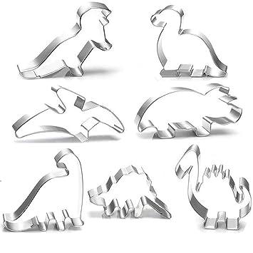 Ausstechform Set Ausstecher Dino Dinosaurier 4teilig Edelstahl Backen Kekse