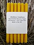 Edinboro Creations Set of a Dozen - 8'' Hand Rolled Beeswax Tapers, Honeycomb Beeswax - Pure Natural Beeswax - Free 3 Day Shipping