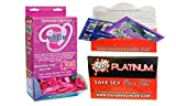 Bundle - 2 items: Liquid Virgin 2cc. Pillow Pack (DP/144) And Wet Safe Sex Kit with Platinum Silicone Lubricant