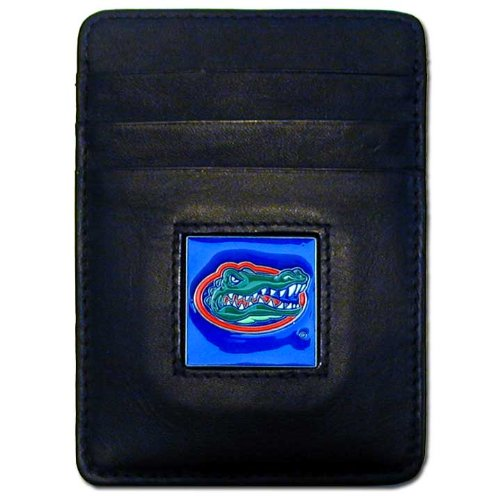 NCAA Florida Gators Leather Money Clip/Cardholder Wallet