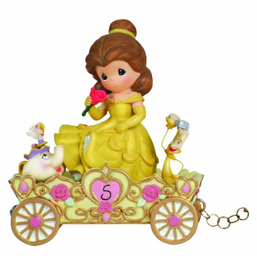 Old World Porcelain (Precious Moments, Disney Showcase Collection,  A Beauty To Behold At Five Years Old, Disney Birthday Parade, Age 5, Resin Figurine, 104407)