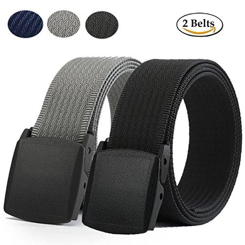 WYuZe Nylon Web Belt-YKK Plastic Buckle-Military Webbing Outdoor Tactical Belt (WY8-2-black (Combat Web Pack)