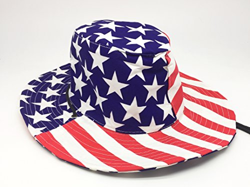 ze Cloth Stars and Stripes Cowboy hat/ Patriotic Cowboy Hat/4th of July costume/4th of July cowboy hat (July Stars)