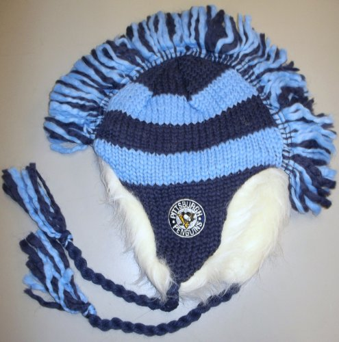 Ccm Vintage Cap - Pittsburgh Penguins Mohawk Knit Vintage Hockey CCM Hat - KF14Z