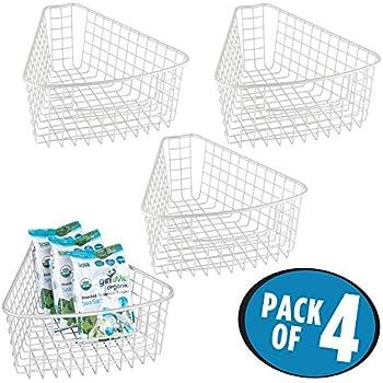 Amazon Com Mdesign Lazy Susan Wire Storage Basket With