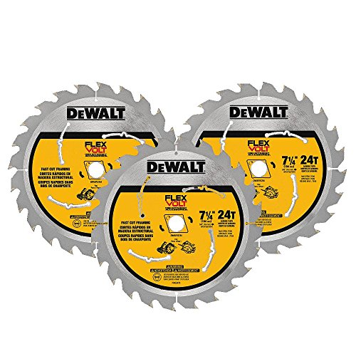 DEWALT DWAFV37243 Flexvolt 24T Circular Saw Blade (3 Pack), 7-1/4