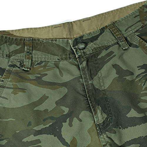 NO LOGO XSWY Camouflage Camo Cargo Shorts Men 2020 New Mens Casual Shorts Male Loose Work Shorts Man Military Short Pants Plus Size 29-44 (Color : 6603GreenCamo, Size : 34)