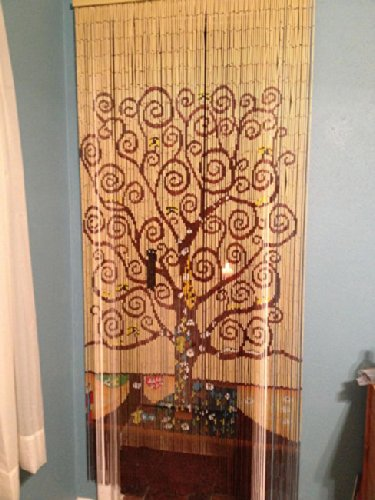 Amazon Tree Of Life Beaded Curtain 125 Strands Hanging Hardware Home Kitchen